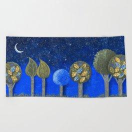 Night Grove Beach Towel