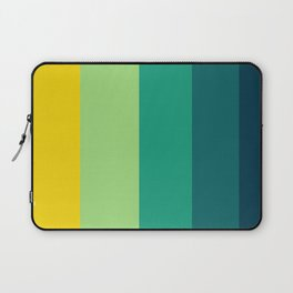 Turquoise & Yellow Geometric Pattern Laptop Sleeve