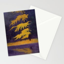 Bois de Boulogne, Paris, France Maidenhair Autumn landscape painting by Félix Vallotton Stationery Cards