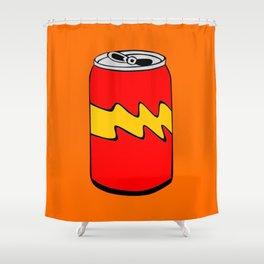 Red Orange & Yellow Cartoon Soda Can Colourful Simple Art Shower Curtain