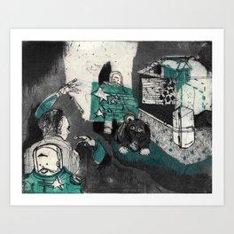 Space Invaders Art Print
