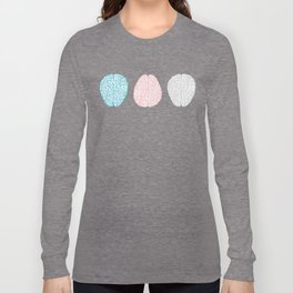 Pastel Brains Pattern Long Sleeve T-shirt