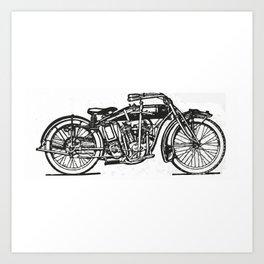 Motorcycle 2 Art Print