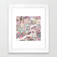 Philadelphia map flowers Framed Art Print