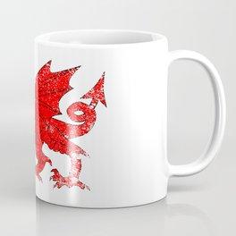 Welsh Dragon With Grunge Coffee Mug