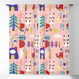 Tortoise and the Hare is one of Aesop Fables pink Blackout Curtain