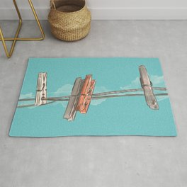 Boho Clothespin Rug