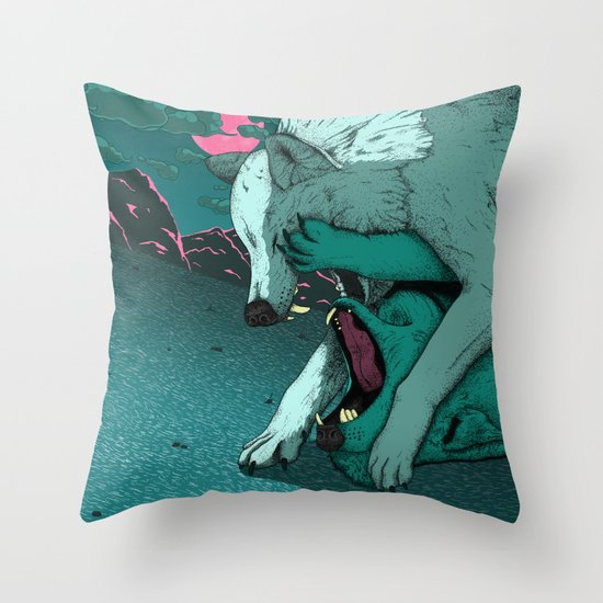 Ballad of the Wolf Throw Pillow