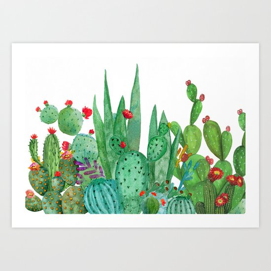 Cactus 12a Art Print