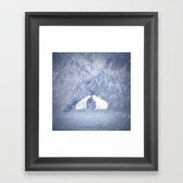 The love of polar bears Framed Art Print
