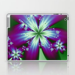 Purple Blue and Green Flowers Laptop & iPad Skin