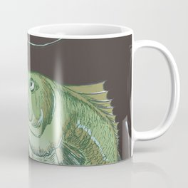Bass Jumping At Night Coffee Mug