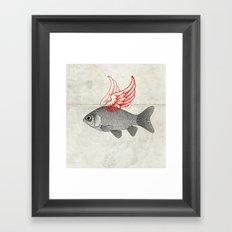 Flying Goldfish Framed Art Print