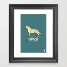 Yellow Labrador Retriever Framed Art Print