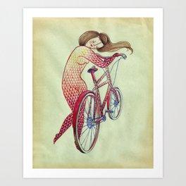 Bicycle hugger Art Print