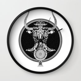 MINOTAUR_GREY Wall Clock