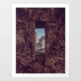 See through Stone Art Print