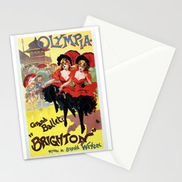 French cancan Paris Brighton Grand Ballet Stationery Cards