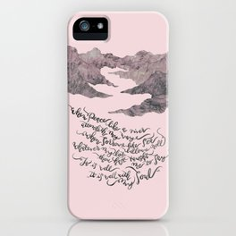 It Is Well With My Soul -pink&grey iPhone Case