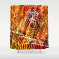 tron Shower Curtains featuring Amusement Theory by Lorelei Bleil