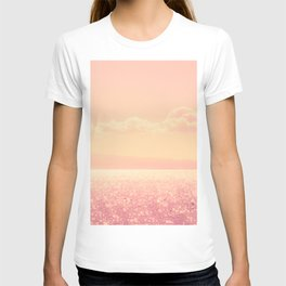 Dreamy Champagne Pink Sparkling Ocean T-shirt