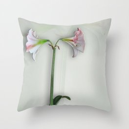 Shadowed Amaryllis Throw Pillow