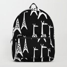 Mid Century Modern Giraffe Pattern 221 Black and White Backpack
