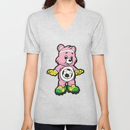 SOCCER Player TEDDY Bear Son Daughter Pit Cleats Unisex V-Neck