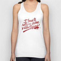 american psycho Tank Tops featuring American Psycho by Paul Von Slagle
