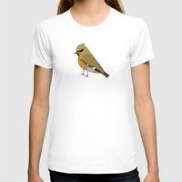 bohemian T-shirts featuring Bohemian Waxwing by MLOR graphic designs