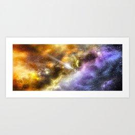 Space colours Art Print