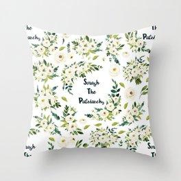 Smash The Patriarchy - A beautiful floral print Throw Pillow