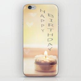 Happy birthday wishes iPhone Skin