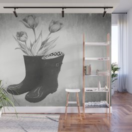These boots are made for flowers Wall Mural