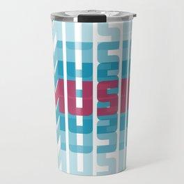 Music (texts in neon) Travel Mug