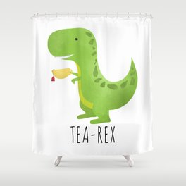 Tea-Rex Shower Curtain
