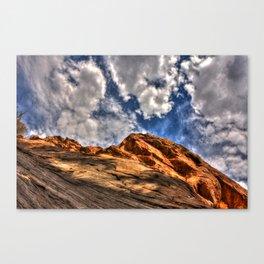 Blue and Orange Canvas Print