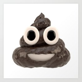 Pile of Poo Emoji Art Print