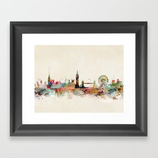 london england skyline Framed Art Print