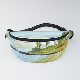 Point Betsie Light Michigan - Stormy Weather Fanny Pack