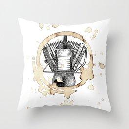 Coffee Stained Fais Do-Do-Louisiana Series Throw Pillow