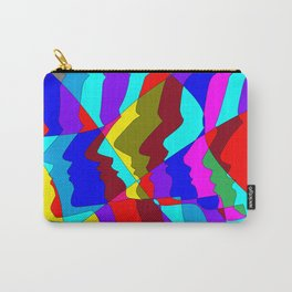 A Art Piece of Profiles in Various Colors Carry-All Pouch