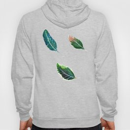 Watercolor Tribal Feathers Hoody