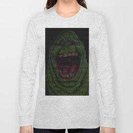 Slimer: Ghostbusters Screenplay Print Long Sleeve T-shirt