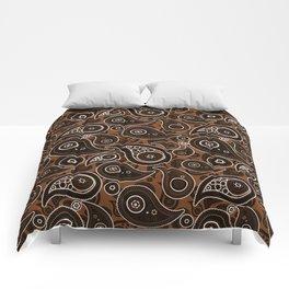 Chocolate Brown Paisley Pattern Comforters