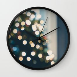 Xmas Tree Lights Wall Clock