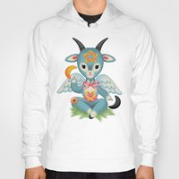 baphomet Hoodies featuring Baby's First Baphomet by Artetak