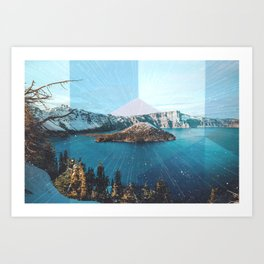 Crater Lake Oregon Art Print