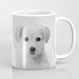 Golden Retriever Puppy - Black & White Coffee Mug