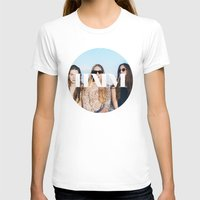 haim T-shirts featuring HAIM round photo logo by Van de nacht